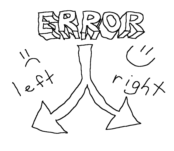 Errors go Left, Successes go Right